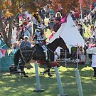 A Knight asks for a replacement Lance in Jousting Battle at Medieval Fayre by JimmyChi