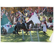 A Knight asks for a replacement Lance in Jousting Battle at Medieval Fayre Poster
