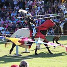 Contact in Jousting Battle at Medieval Fayre by JimmyChi