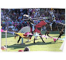 Contact in Jousting Battle at Medieval Fayre Poster