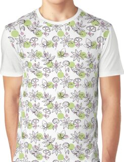 Seamless Pattern Magic Flowers Graphic T-Shirt