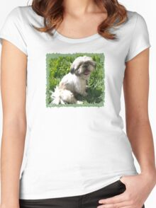 Lexi - Shih Tzu Women's Fitted Scoop T-Shirt
