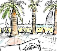Barceloneta Beach - Barcelona - www.cycleyourheartout.com by Sarah Maria B