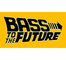 Bass to the Future (black) Photographic Print