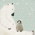 penguin and bear  by bri-b