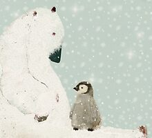 penguin and bear  by bri-b