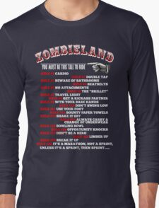 This tall to ride Zombieland - White Long Sleeve T-Shirt