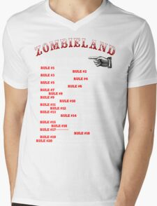 This tall to ride Zombieland - White Mens V-Neck T-Shirt