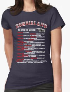 This tall to ride Zombieland - White Womens Fitted T-Shirt