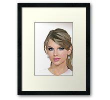 Taylor Swift - LowPoly Portrait Framed Print