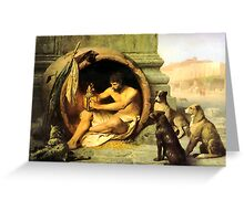 Diogenes Greeting Card