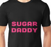 SUGAR DADDY pink text design Unisex T-Shirt