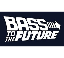 Bass to the Future (white) Photographic Print