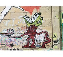Weird Graffiti Monster Photographic Print