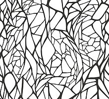 Black and white hand drawn geometric pattern by IreneArt