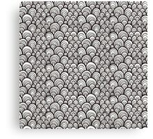 Black and white scale ornamental pattern Canvas Print