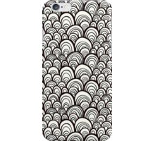 Black and white scale ornamental pattern iPhone Case/Skin