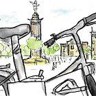 Columbus Monument, Barcelona - www.cycleyourheartout.com by Sarah Maria B