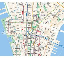 Map manhattan Photographic Print