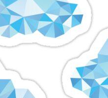 Diamond Clouds in the Sky Pattern Sticker