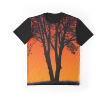 Sunset Style Tree Graphic T-Shirt