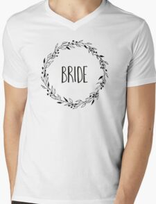 Woodland wreath - bride Mens V-Neck T-Shirt