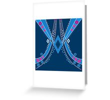 Abstract pattern with ornamental elements, modern print background Greeting Card