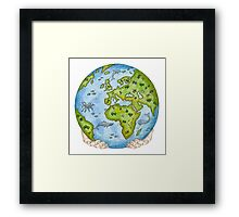 Our Earth in Your Hands Framed Print