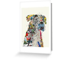 the mod boxer Greeting Card