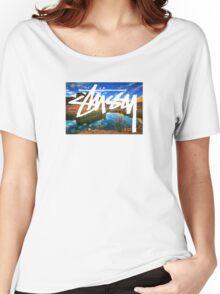 Stussy Desert Women's Relaxed Fit T-Shirt