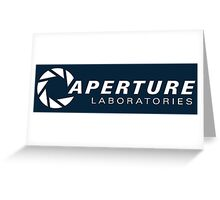 aperture laboratories logo  Greeting Card