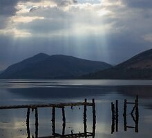 Rays of Light on Loch Linnhe by wiggyofipswich