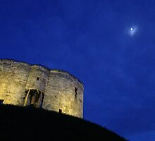 Clifford's Tower and Moon by Robert Steadman
