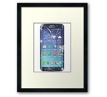 Broken s6 phone screen Framed Print