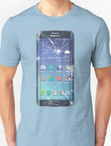 Broken s6 phone screen Unisex T-Shirt