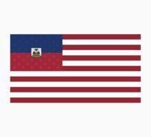 Haitian American Flag One Piece - Long Sleeve