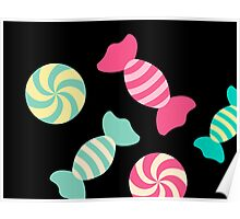 Cute Candy Stripes Poster