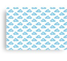 Diamond Clouds in the Sky Pattern Canvas Print