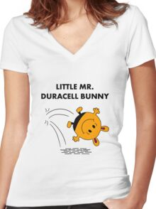 Mr Duracell Bunny Women's Fitted V-Neck T-Shirt