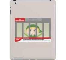 Link jailed for pottery damage (TV newsflash) iPad Case/Skin