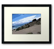 Trevone Bay Pop Framed Print