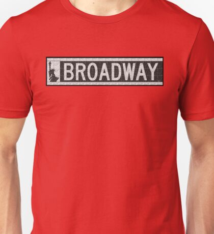 BROADWAY DECO SWING NYC Street Sign  Unisex T-Shirt