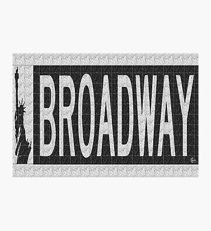 BROADWAY DECO SWING NYC Street Sign  Photographic Print