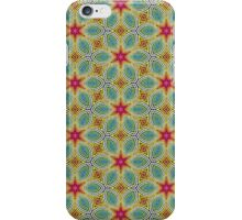 Pink Stars with Yellow Flowers Pattern iPhone Case/Skin