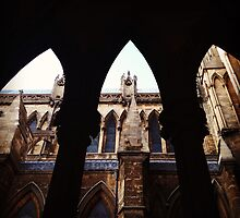 Looking through the arches, Lincoln Cathedral by Robert Steadman