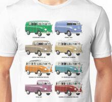VW T1 Samba range Unisex T-Shirt