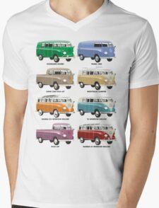 VW T1 Samba range Mens V-Neck T-Shirt