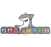 Jawsome Shark Blocks Photographic Print