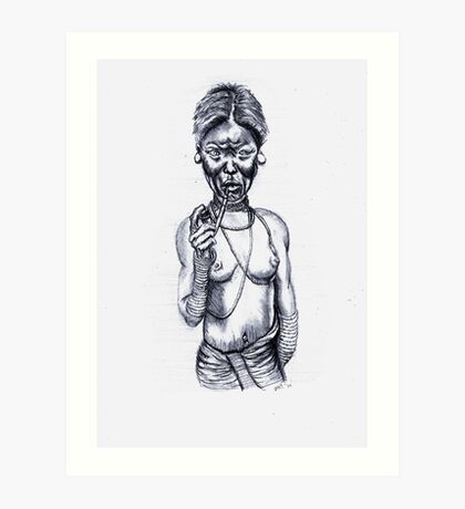 Rhade Girl (old) Art Print