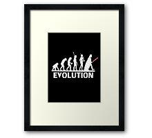 evolution from monkey to human Framed Print